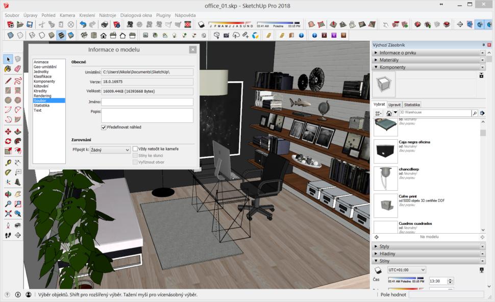 CleanUp³ – čištění aoptimalizace SketchUp modelu