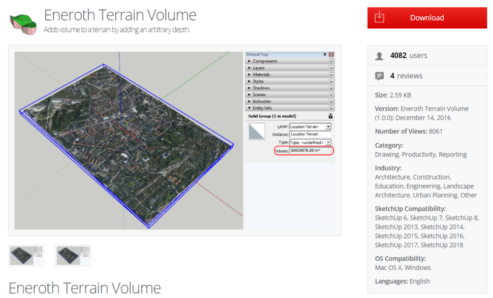 Eneroth Terrain Volume