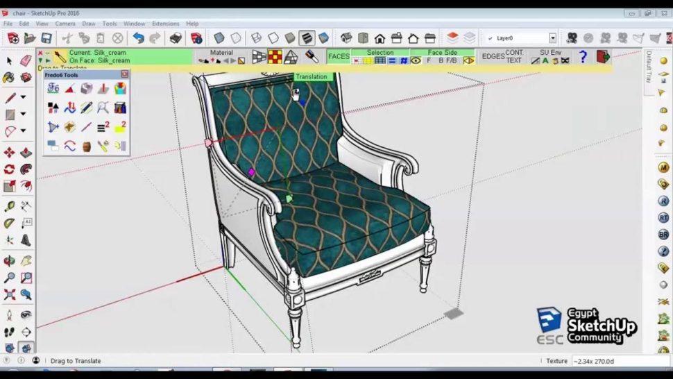 ThruPaint, materiály atextury ve SketchUpu na100%