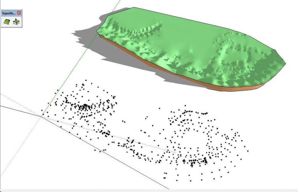 SketchUp amračno bodů, pokročilá tvorba terénu …