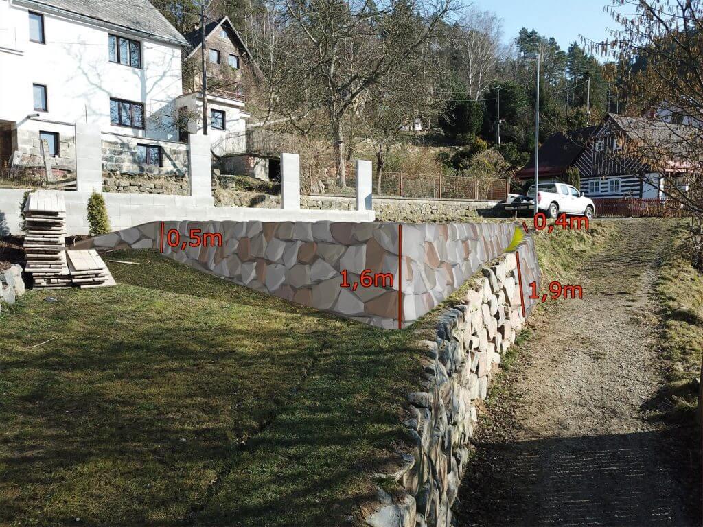 Jak naopěrné zdi zpřírodního kamene?